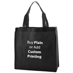"Black Non-Woven 13"" x 5"" x 13"" Tote Bags - 18"" Handle"