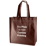 "Chocolate Non-Woven 13"" x 5"" x 13"" Tote Bags - 18"" Handle"