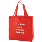 "Red Non-Woven 13"" x 5"" x 13"" Tote Bags - 18"" Handle"