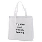 "White Non-Woven 13"" x 5"" x 13"" Tote Bags - 18"" Handle"