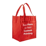 Red Non-Woven Econo Grocery Bags