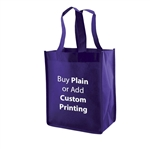 "Royal Blue Non-Woven 8"" x 5"" x 10"" Tote Bags - 14"" Handle"