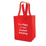 "Red Non-Woven 8"" x 5"" x 10"" Tote Bags - 14"" Handle"