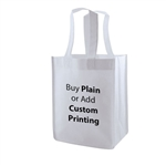 "White Non-Woven 8"" x 5"" x 10"" Tote Bags - 14"" Handle"