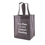 "Charcoal Non-Woven 8"" x 5"" x 10"" Tote Bags - 14"" Handle"