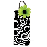 Printed Single Bottle Wine Bags - Bold Scroll