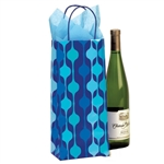 Printed Single Bottle Wine Bags - Waterfall