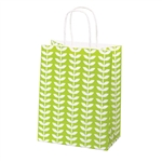 Recycled Spring Leaf Paper Shopping Bags