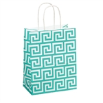 Recycled Greek Key Paper Shopping Bags