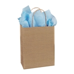 Burlap Pattern Shopping Bags