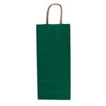 Single Bottle Hunter Green Wine Bags
