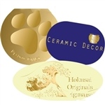 Custom Hot Stamped Labels-Medium-Large Shapes