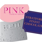 Custom Hot Stamped Labels-Large Shapes