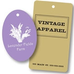 Custom Hot Stamped Tags-Large Shapes