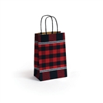 Small Festive Flannel Shopping Bags