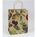 "Fruit Bowl Paper Shopping Bags - Chimp 8"" x 4-3/4"" x 10-1/2"" - 250 Bags"