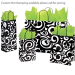Bold Scrolls Patterned Shopping Bags