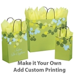 Berry Branches Patterned Shopping Bags