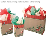 Snowbirds/Kraft Patterned Shopping Bags