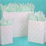 Polka Dot Pearl Patterned Shopping Bags