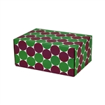 Small Eco Dots Patterned Shipping Boxes - 12 Pack