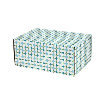 Small Retro Patterned Shipping Boxes - 12 Pack