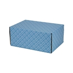 Small French Diamond Patterned Shipping Boxes - 24 Pack