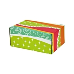 Small Fiesta Patterned Shipping Boxes - 48 Pack