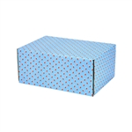 Small Lil Stockings Patterned Shipping Boxes - 48 Pack