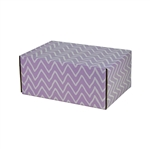 Small Lavande Patterned Shipping Boxes - 6 Pack