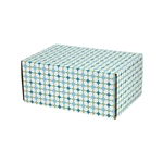 Small Retro Patterned Shipping Boxes - 6 Pack