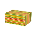 Small Sunstripe Patterned Shipping Boxes - 6 Pack