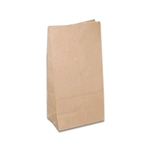 8 lb. SOS Paper Bags - Smooth Kraft