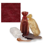 Gusseted Wine Organza Bags in Burgundy