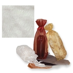 Gusseted Wine Organza Bags in Ivory