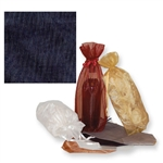 Gusseted Wine Organza Bags in Navy