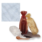 Gusseted Wine Organza Bags in White