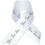 White Personalized Bridal Satin Ribbon