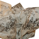 Toile Black on Oatmeal Satinwrap tissue