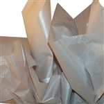 Silver Metallic Satinwrap tissue