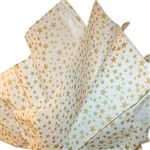 Gold Stars on White Satinwrap tissue