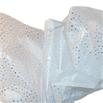 Satinique Printed Tissue - Silver Reflections on White