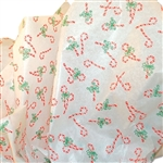 Candy Canes printed tissue paper