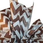 Bold Chevron Chocolate Satinwrap tissue