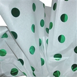 "Green Hot Spots Reflections Patterned Tissue Paper - T10714B 200 Sheets (20 x 30"")"