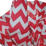 "Bold Chevron Red Patterned Tissue Paper - T10717A 200 Sheets (20 x 30"")"