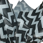 "Bold Chevron Black Patterned Tissue Paper - T10717A 200 Sheets (20 x 30"")"