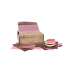 Pink/Brown (inter-leaved)  Dry Waxed Bakery Food sheets