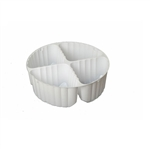 4 Cavity Tin Insert for 1S Round Tins - 72 Inserts/Pack