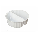 2 Cavity Tin Insert for 2C Round Tins - 72 Inserts/Pack